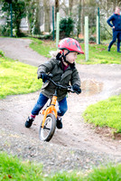 Leo tries out the mountain bike track at Wadebridge Primary School.