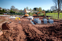 Work begins at a new housing development in Plymstock.