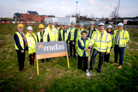 A groundbreaking ceremony was held at Junction 24, Bridgwater to mark work commencing on the new Holiday Inn Express.