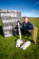 OneFamily customer Jason Lyons is delighted to hear that Long Sutton Cricket Club has won a £5000 award from financial mutual OneFamily to pay for new covers to protect it's pitch.